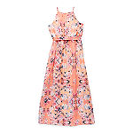 by&by girl Big Girls Sleeveless Floral Maxi Dress