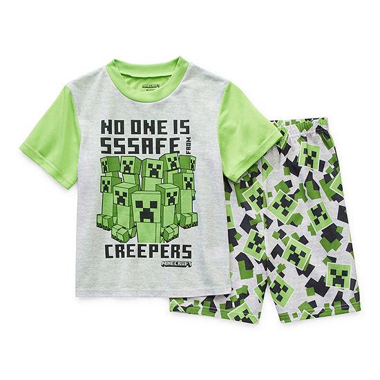Little & Big Boys 2-pc. Minecraft Shorts Pajama Set