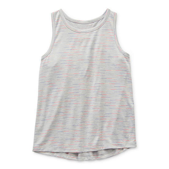 Xersion Little & Big Girls Round Neck Tank Top