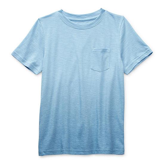 Arizona Little & Big Boys Crew Neck Short Sleeve T-Shirt