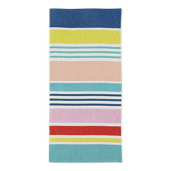 Outdoor Oasis Multi Stripe Beach Towel