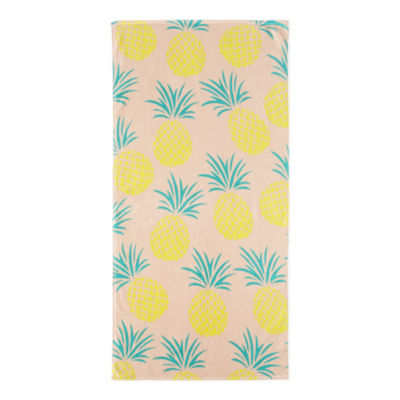 Outdoor Oasis Pineapple Beach Towel