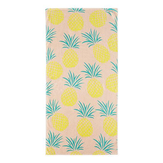 Outdoor Oasis Pineapple Beach Towel
