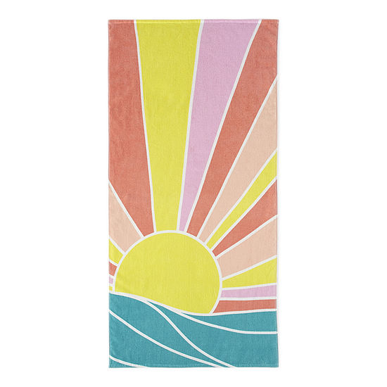 Outdoor Oasis Sun And Waves Beach Towel