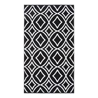 Loom + Forge Diamond Organic Cotton Jacquard Beach Towel, One Size , Black