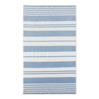 Linden Street Stripe Organic Cotton Jacquard Beach Towel
