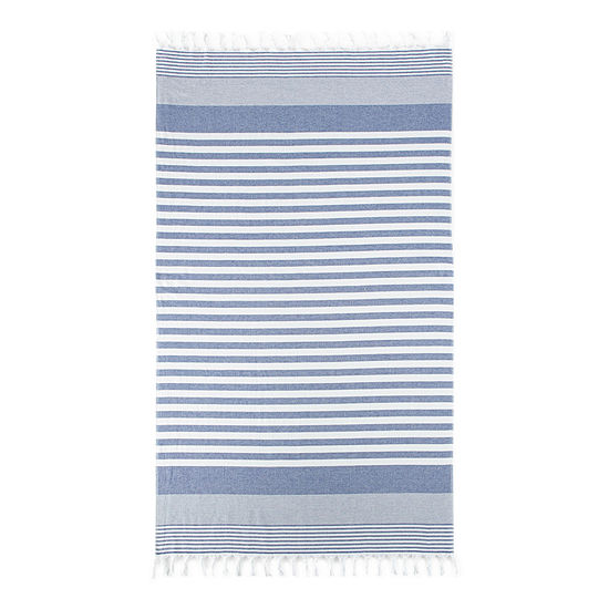 Linden Street Organic Cotton Flat Weave Stripe Beach Towel