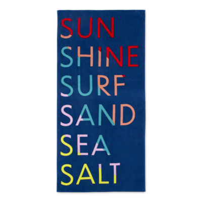Outdoor Oasis Sun Shine Sea Surf Sand Beach Towel