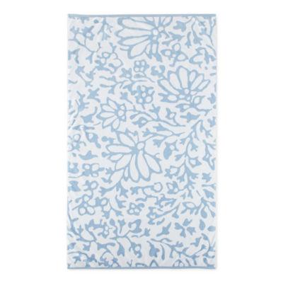 Linden Street Floral Organic Cotton Jacquard Beach Towel