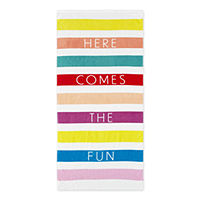 Outdoor Oasis Here Comes The Fun Beach Towel Deals