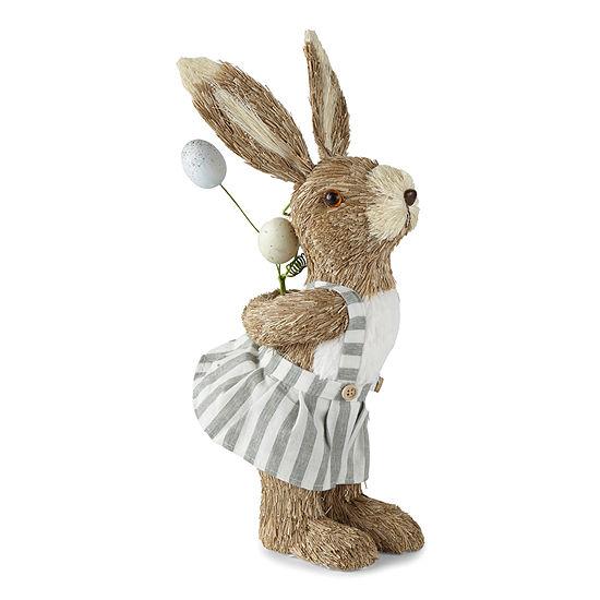Sisal Girl Bunny Figurine