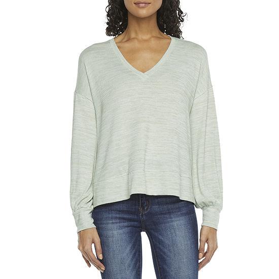 a.n.a Womens V Neck Long Sleeve T-Shirt