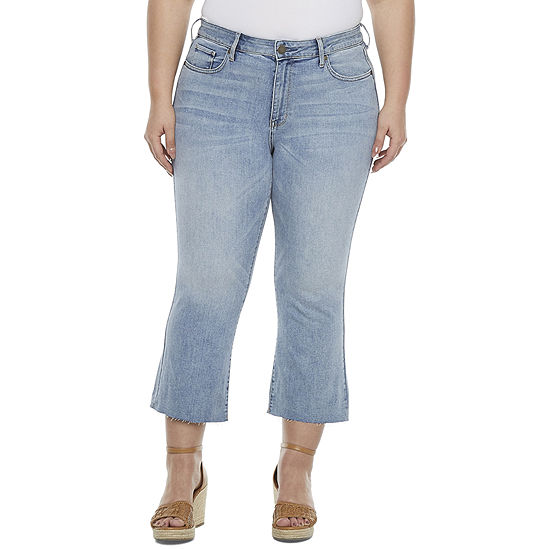 a.n.a-Plus Womens High Rise Cropped Flare Jean