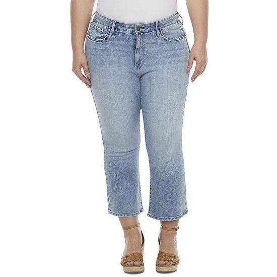 a.n.a-Plus Womens High Rise Cropped Flare Jean