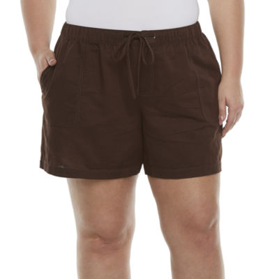 Liz Claiborne Linen Womens Chino Short-Plus