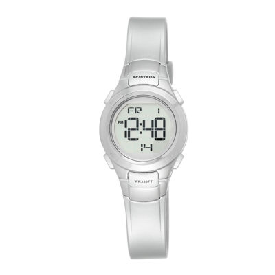 Armitron® Womens Silver-Tone Chronograph Digital Sport Watch