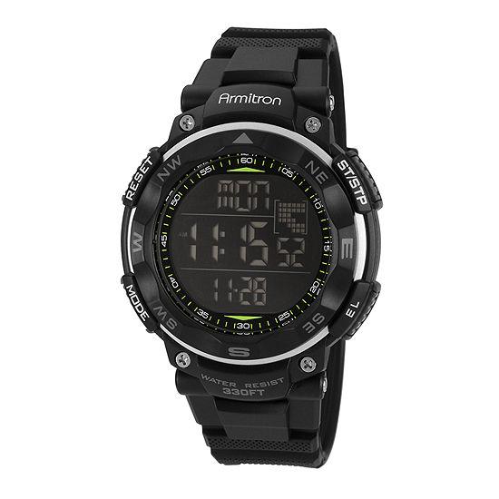 Armitron Pro Sport Mens Digital Black Strap Watch-40/8254blk