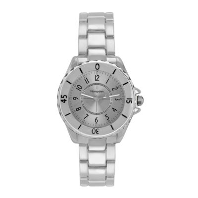 Hampden Womens Silver-Tone Personalized Bracelet Watch