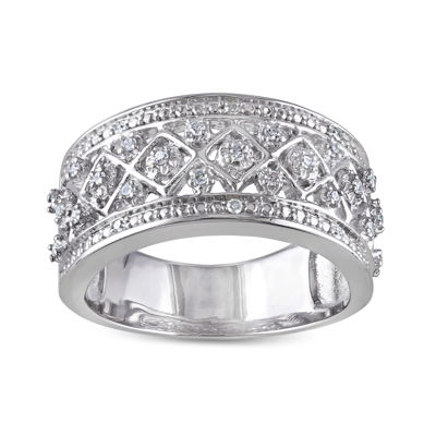 1/7 CT. T.W. Diamond Sterling Silver Band