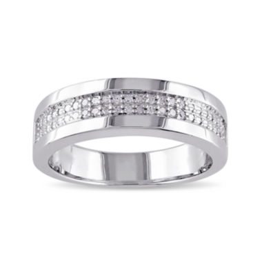 Mens 1/10 CT. T.W. Diamond Wedding Band