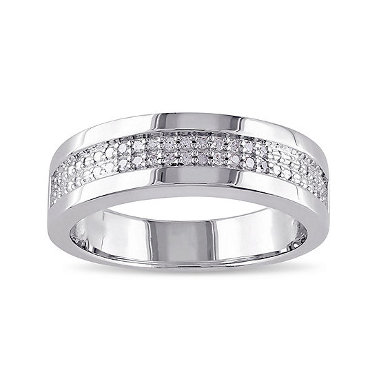 Mens 1 10 Ct Tw Diamond Wedding Band Jcpenney