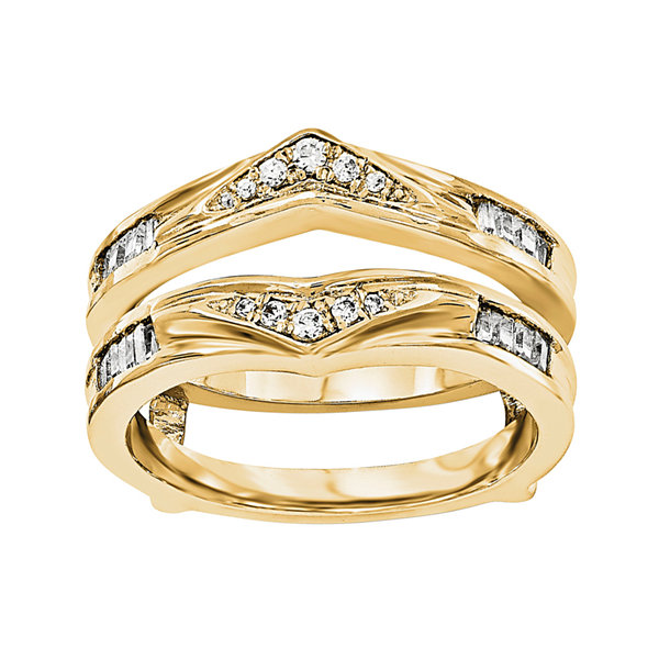 1/5 CT. T.W. Diamond 14K Yellow Gold Ring Guard