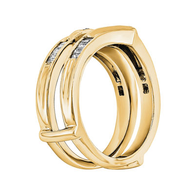1 5 CT T W Diamond 14K Yellow Gold Ring Guard JCPenney