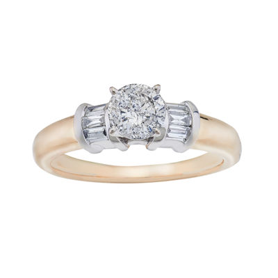 3/4 C.T. TW. Diamond 14K Two-Tone Gold Engagement Ring