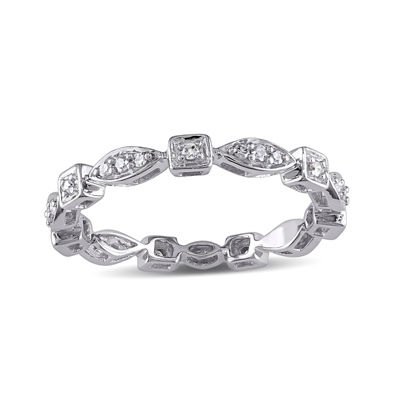 1/5 CT. T.W. Diamond 10K White Gold Eternity Band