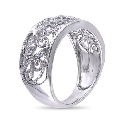 Diamond Accent 10K White Gold Wedding Band