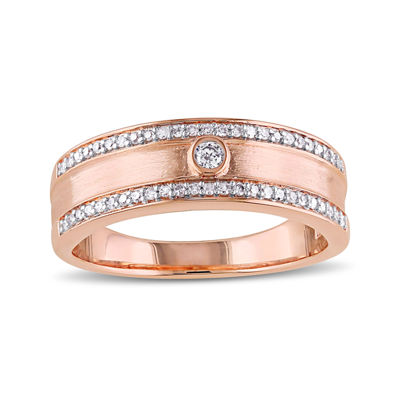 1/5 CT. T.W. Diamond 10K Rose Gold Wedding Band