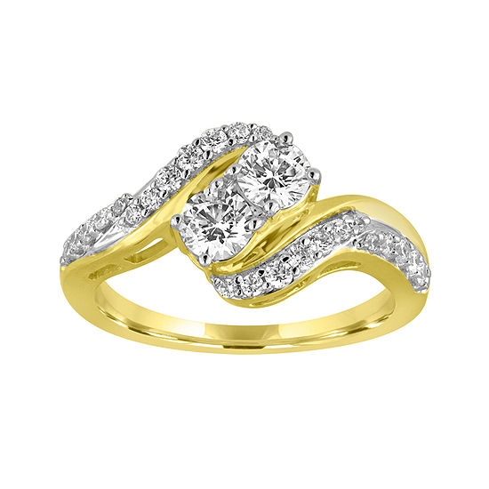 Two Forever 1 Ct Tw Diamond 10k Yellow Gold Ring