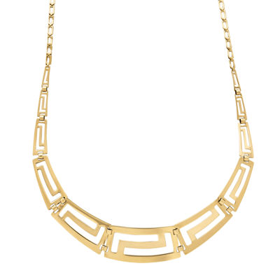 Infinite Gold™ 14K Yellow Gold Graduated Greek Key Necklace
