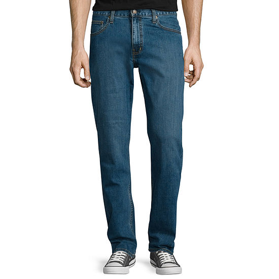 Arizona Mens Mid Rise Stretch Straight Relaxed Fit Jean