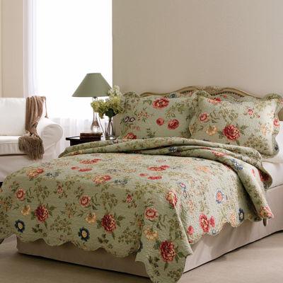 Edens Floral Print Quilt Set