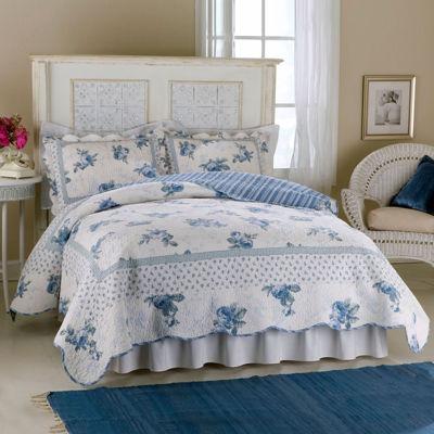 Rose Blossom Blue Quilt