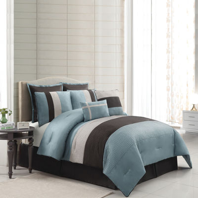 VCNY Essex 8-pc. Stripe Comforter Set