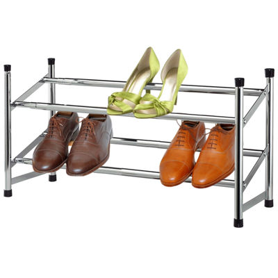Sunbeam® 2-Tier Chrome Expandable Shoe Rack