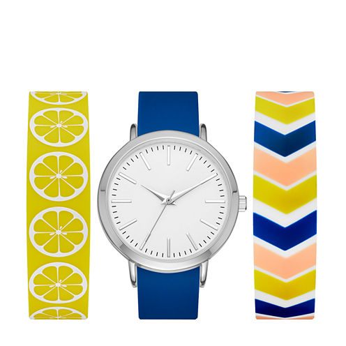 Mixit Womens Multicolor Strap Watch-Fmdjps095