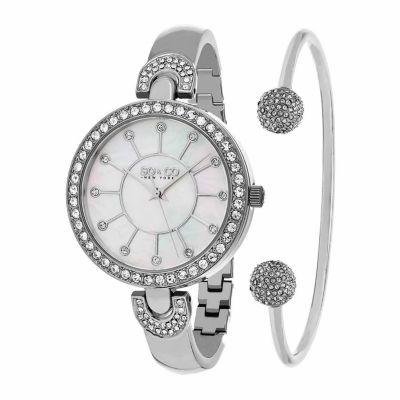 So & Co Womens Silver Tone Bracelet Watch-Jp16296