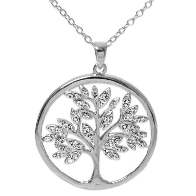 Diamonart Womens White Cubic Zirconia Sterling Silver Pendant Necklace