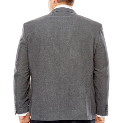Collection by Michael Strahan Grey Flannel Sport Coat-Big and Tall