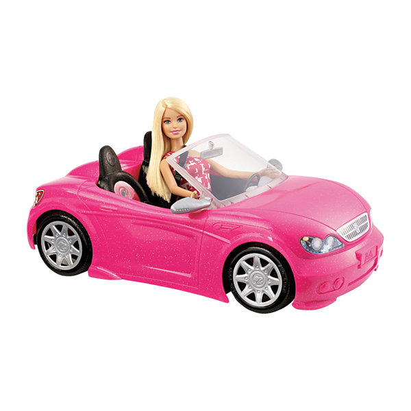 Barbie Pink Convertible And Doll Pack