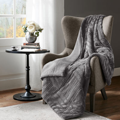 Madison Park Polar Ultra Plush Quilted Throw