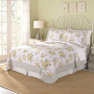 Modern Heirloom Spring Garden 3-pc. Floral Quilt Set