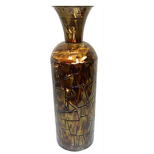 "24"" Gold Metal Trumpet Vase"