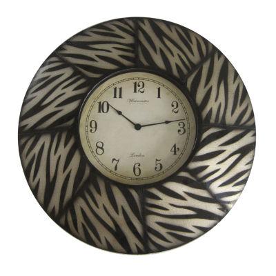 Wall Clock Zebra 8 Paneled