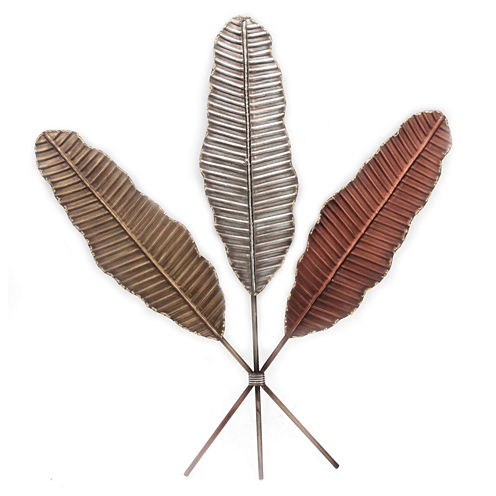 Banana Leaves Metal Wall Decor