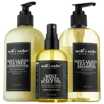 Earth's Nectar Mint Leaves Hair Therapy Set