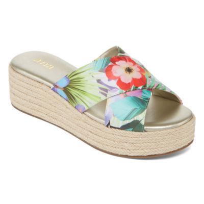 a.n.a Womens Erin Wedge Sandals